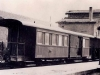 Tren correo en la estación de arriba. Años 40.