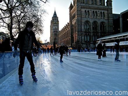 Ice Skating At The Natural History Museum London