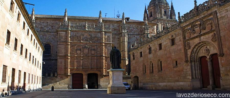 Universidad de Salamanca, donde el dominico riosecano impartió clase.