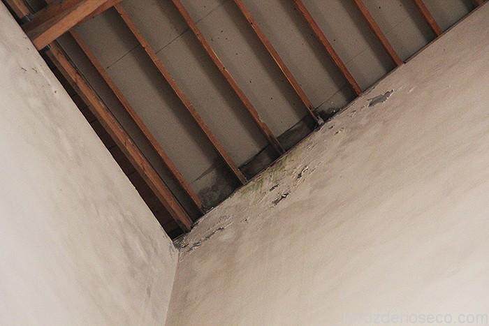 Estado en el que se encuentra el tejado del Museo de Semana Santa.