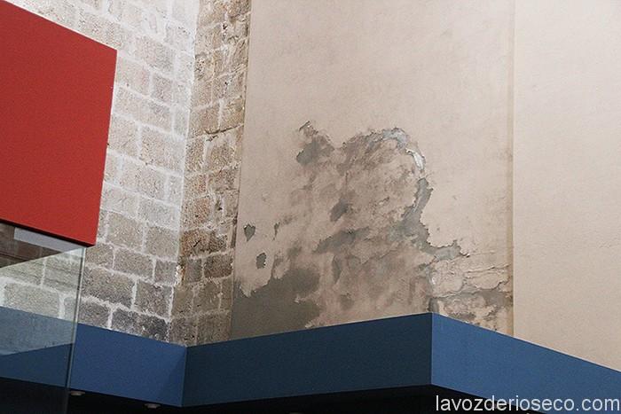 Humedad producida por las bajantes en mal estado de las gárgolas y del tejado