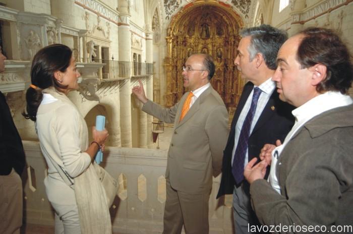 Componentes del Consorcio Almirante visitan las obras en San Francisco. Foto: Diputación de Valladolid