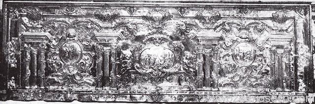 Frontal de plata, donado por Andrés Largo Vicente.