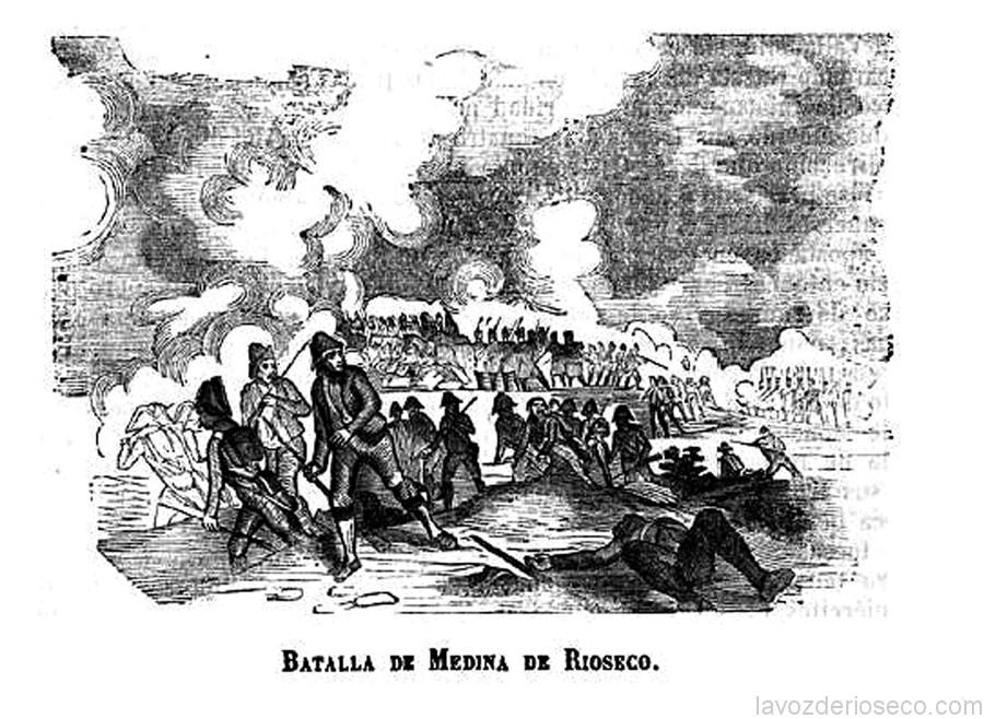 Litografia de 1830 sobre la batalla de Rioseco