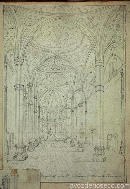 Interior del templo de Santiago